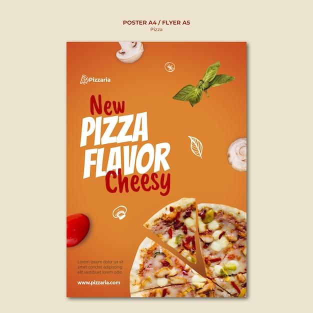 피자 포스터 템플릿 디자인 무료 PSD 파일