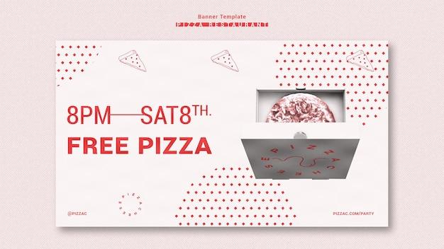 Шаблон рекламного баннера для пиццы Бесплатные Psd