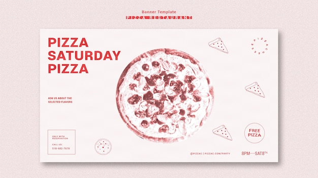 피자 레스토랑 광고 템플릿 배너 무료 PSD 파일