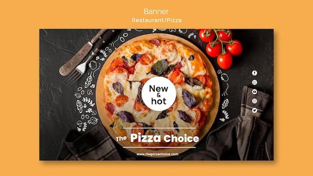 Modello di banner ristorante pizzeria Psd Gratuite