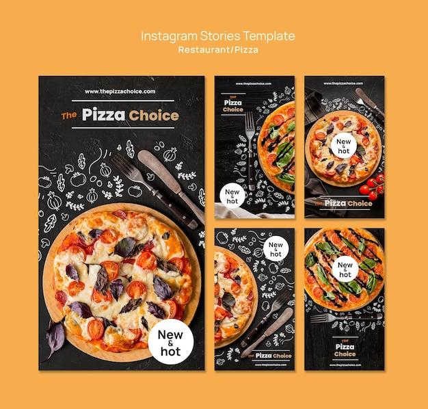 Шаблон историй instagram для пиццы Premium Psd