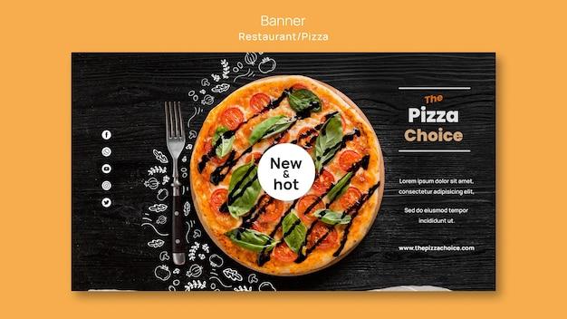 Пицца ресторан шаблон баннер Бесплатные Psd