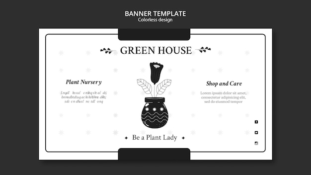 Plant nursery banner template Free Psd
