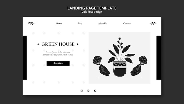 Plant nursery landing page Premium Psd