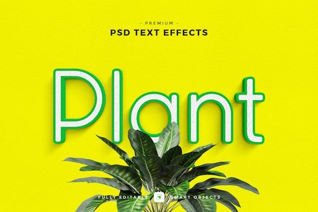 Plant text effect mockup Premium Psd