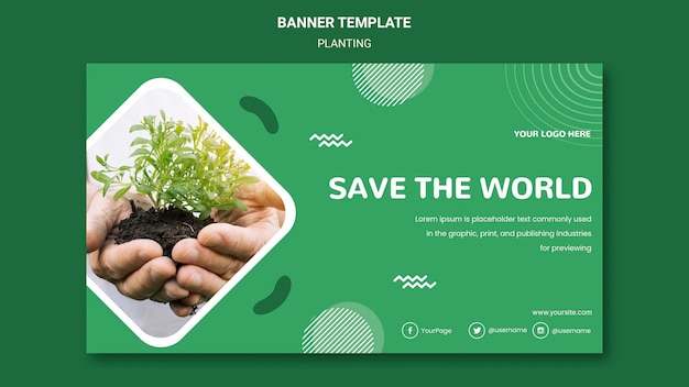 Plant trees for better air banner template Free Psd
