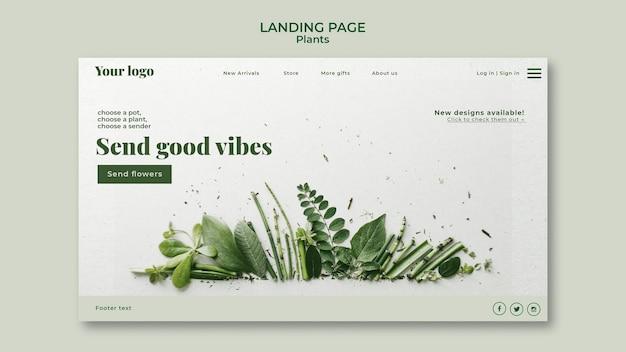 Plants landing page Free Psd