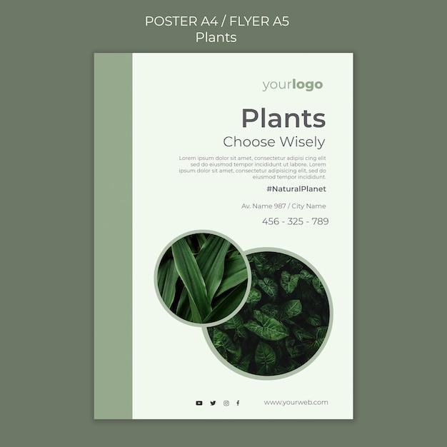 植物ショップチラシテンプレート 無料 Psd