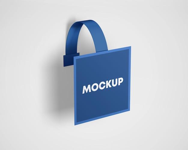 Plastic advertising wobbler mockup Premium Psd