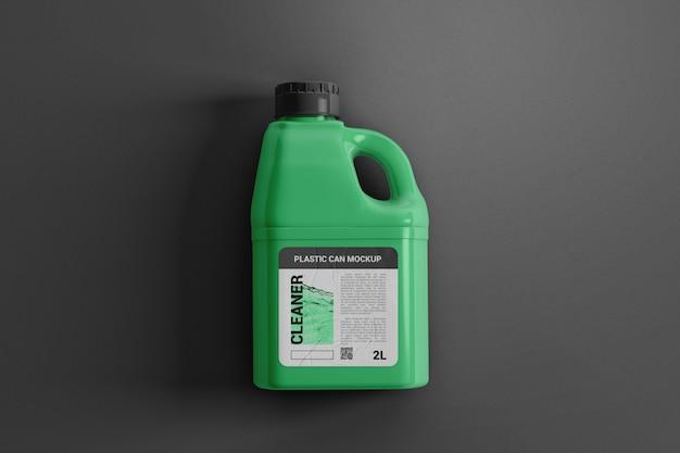 Пластиковая канистра для жидкого макета сверху Premium Psd