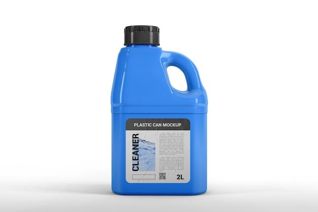 Plastic canister mockup Premium Psd