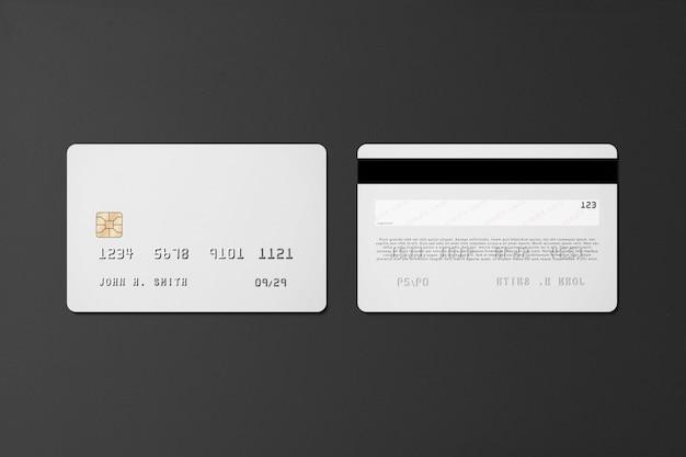 Plastic credit card mockup Free Psd
