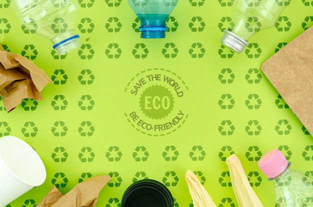 Plastic and eco-friendly utensils Free Psd