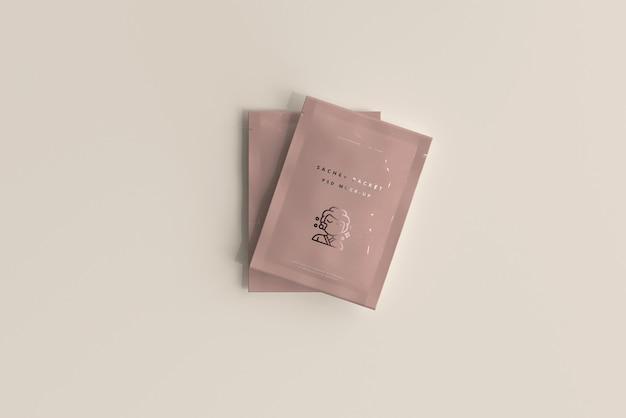 Plastic sachet packet mockup Free Psd