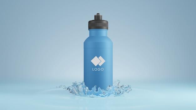 Plastic water bottle mockup Premium Psd