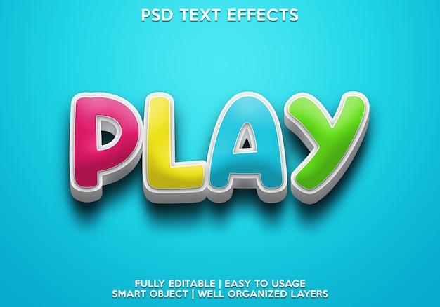 Воспроизвести текстовый эффект Premium Psd