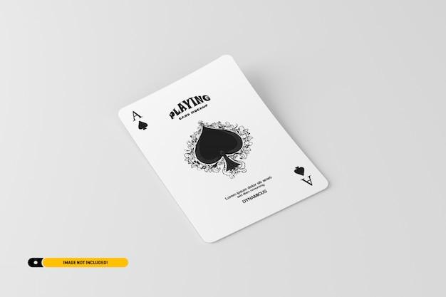 Playing card mockup Premium Psd
