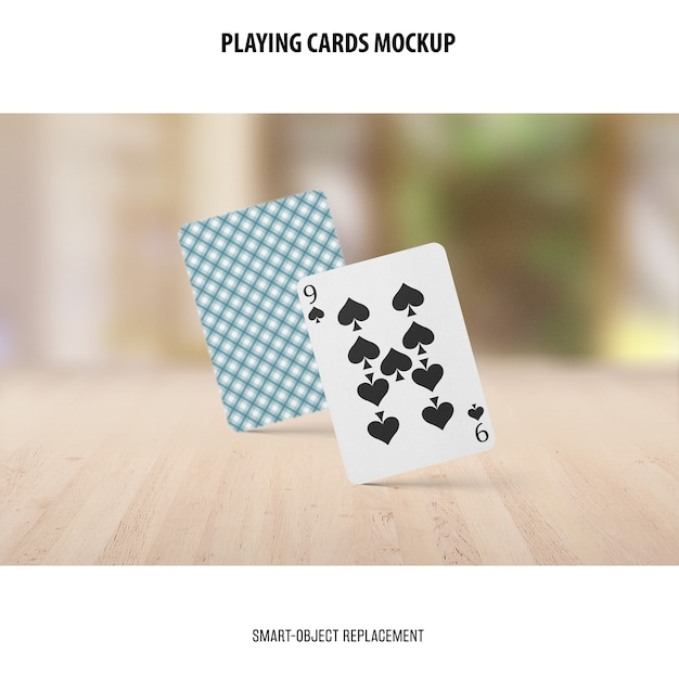 Playing cards mockup Free Psd