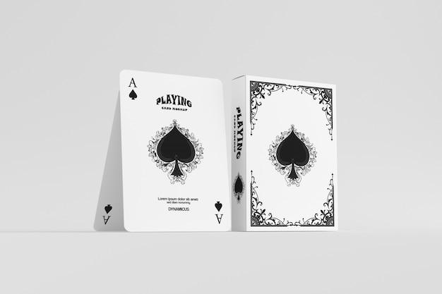 Playing cards mockup Premium Psd