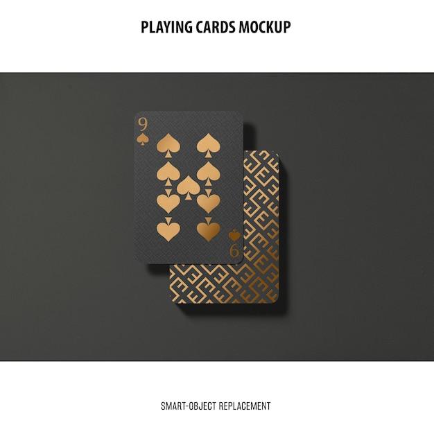 골든 호일 이랑 카드 놀이 무료 PSD 파일
