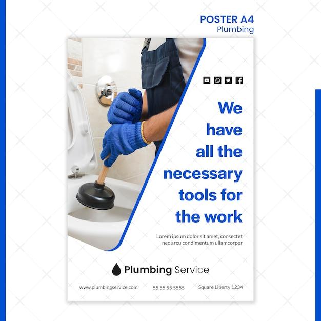 必要なすべてのツールのポスターで配管 無料 Psd