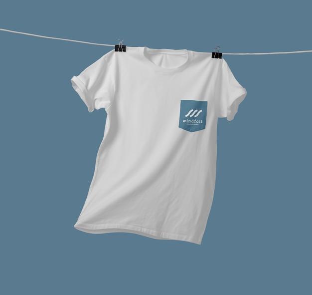 포켓 티셔츠 목업 프리미엄 PSD 파일