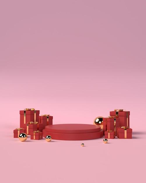 Подиум для продакт плейсмента ко дню святого валентина Premium Psd