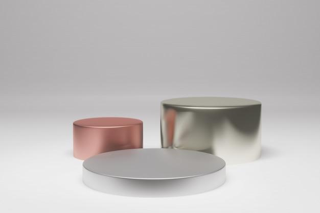 Подиум или платформа внутри комнаты в минималистском дизайне Premium Psd
