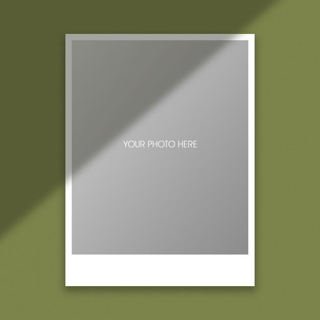 Polaroid photo frame mockup template Premium Psd