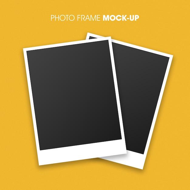 Polaroid photo frame mockup for your design Premium Psd