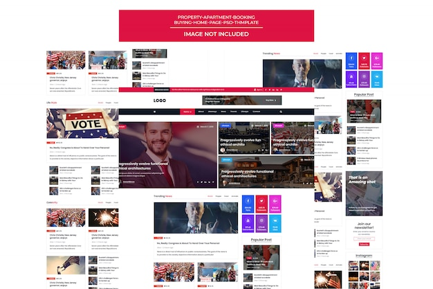 Political theme for candidate/political leader Premium Psd