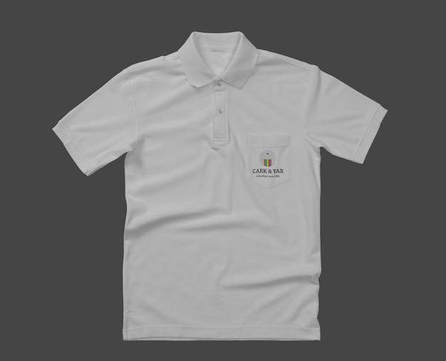 ポケット付きポロシャツモックアップデザイン Premium Psd