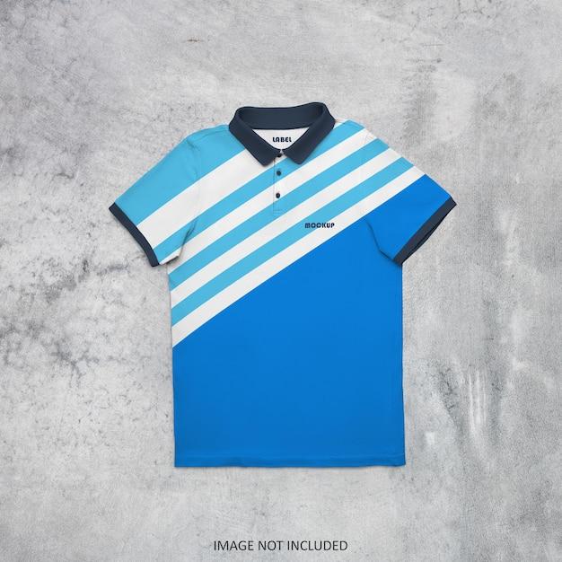 폴로 티셔츠 모형 디자인 절연 프리미엄 PSD 파일