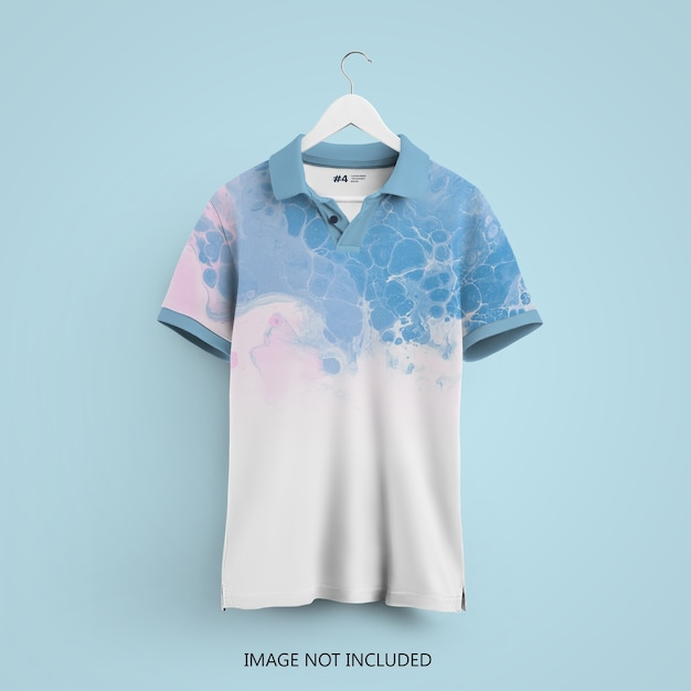 고립 된 옷걸이에 폴로 티셔츠 이랑 프리미엄 PSD 파일