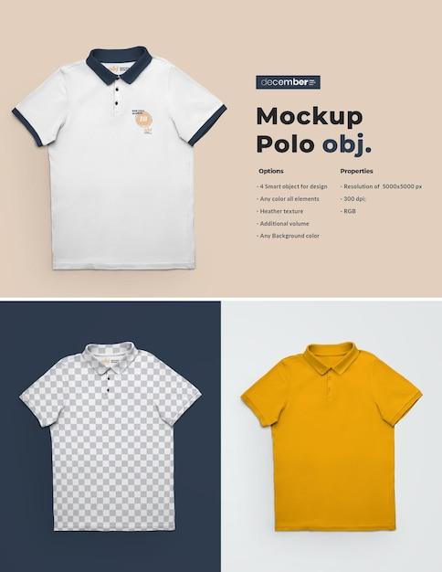 Мокапы футболок поло Premium Psd