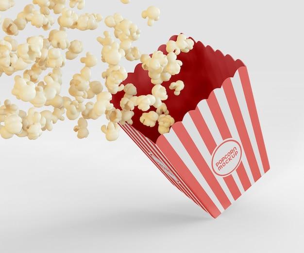 Мокап коробки для попкорна Бесплатные Psd
