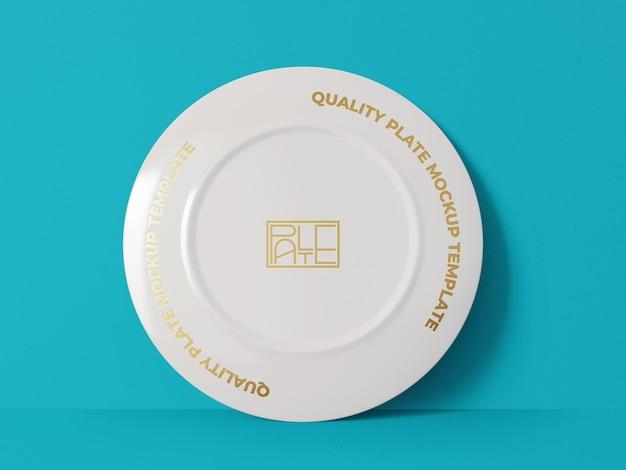 Porcelain plate mockup template Free Psd