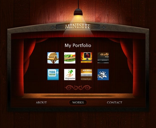 Portfolio template psd file free download portfolio template free psd flashek Images