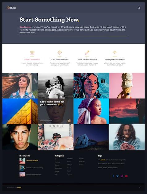 Portfolio template Premium Psd
