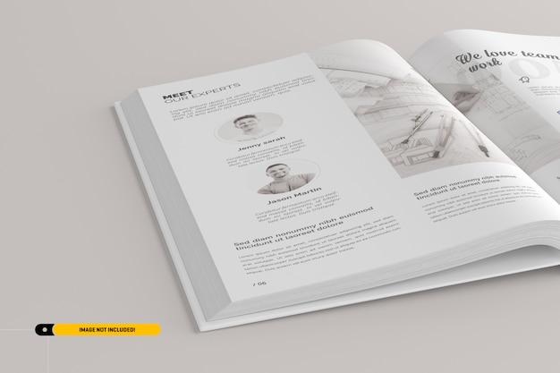 Макет книжного портрета Premium Psd