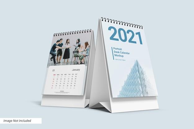 Portrait desk calendar mockup Premium Psd