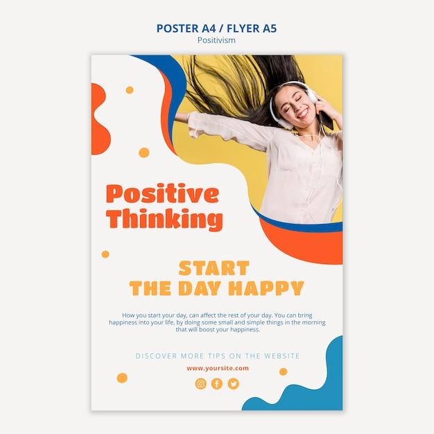 Stile di poster di pensiero positivo Psd Gratuite