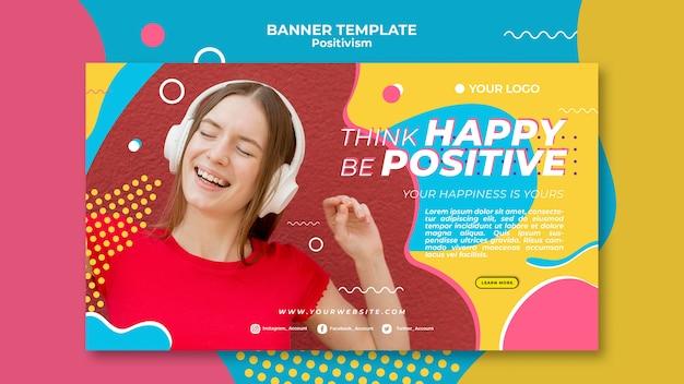Progettazione del modello dell'insegna di concetto di positivismo Psd Gratuite