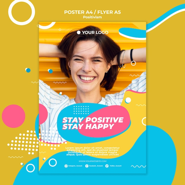 Design volantino concetto di positivismo Psd Gratuite