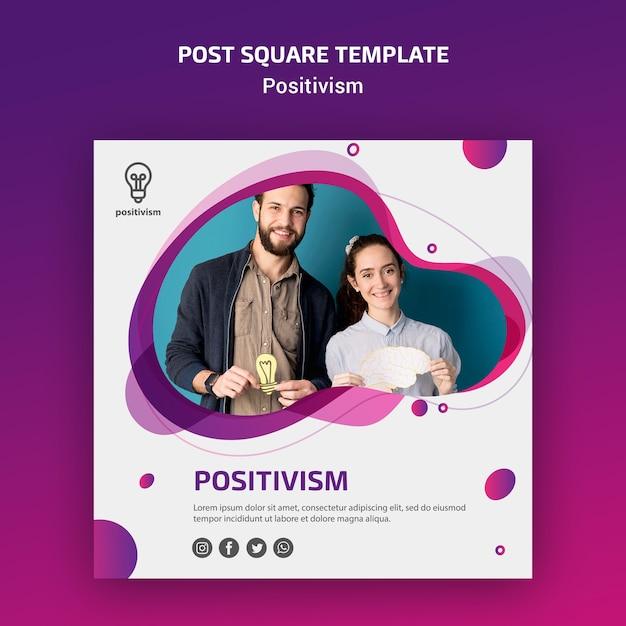 Позитивизм концепция пост квадратный шаблон Бесплатные Psd