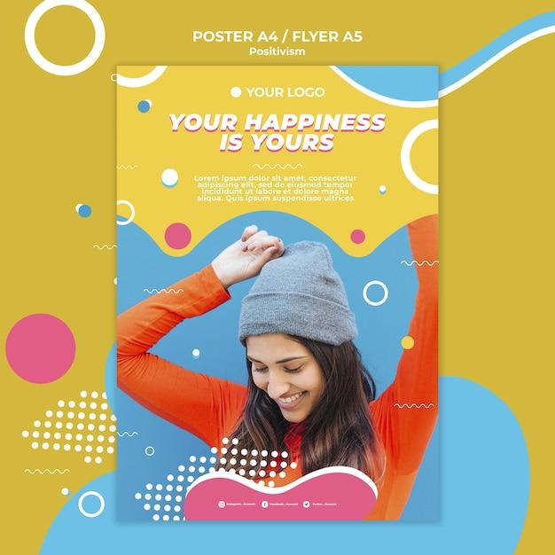 Positivismo concept design del poster Psd Gratuite