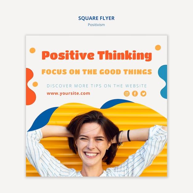 Позитивизм концепция квадратный дизайн листовки Бесплатные Psd