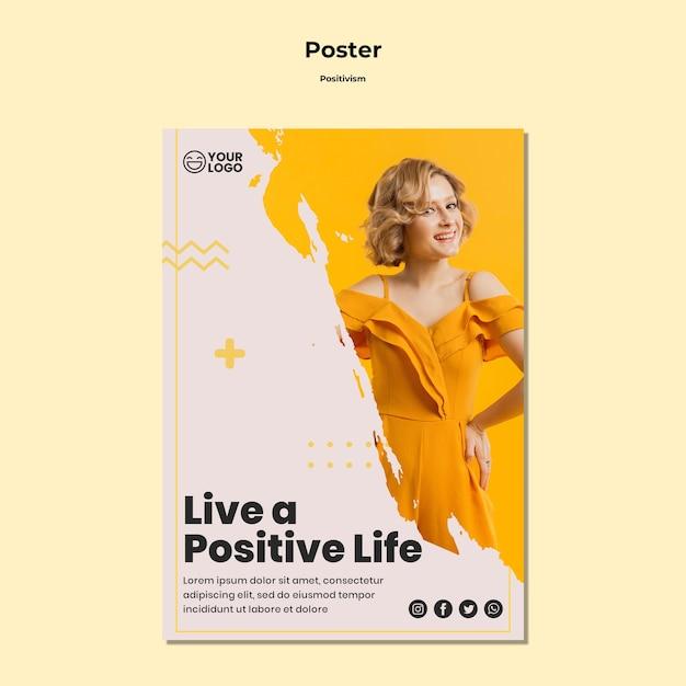 Шаблон флаера позитивизма Premium Psd