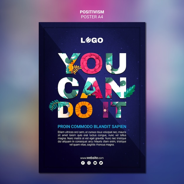 Positivism poster template | Free PSD File