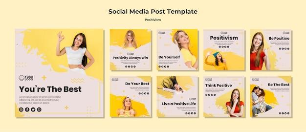 Positivism social media post template Free Psd